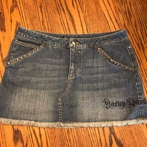 Harley Davidson denim skirt